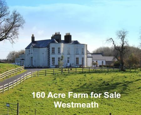 160 Acre Farm and Georgian House for sale in Westmeath