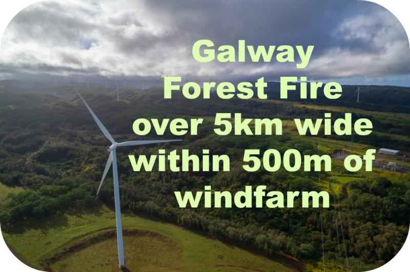 5km wide Forest Fire in Galway