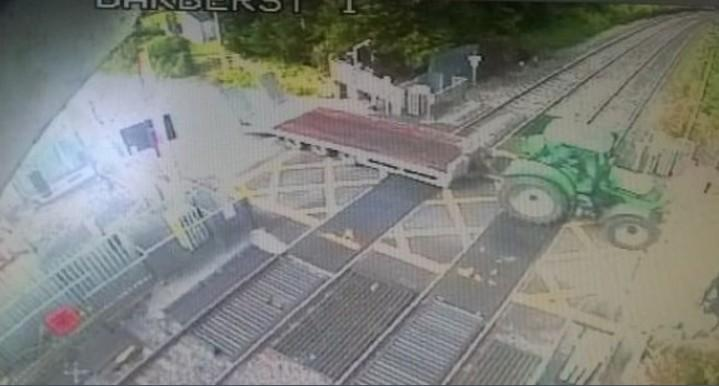 Tractor on rail line causes delays  Maynooth to Sligo