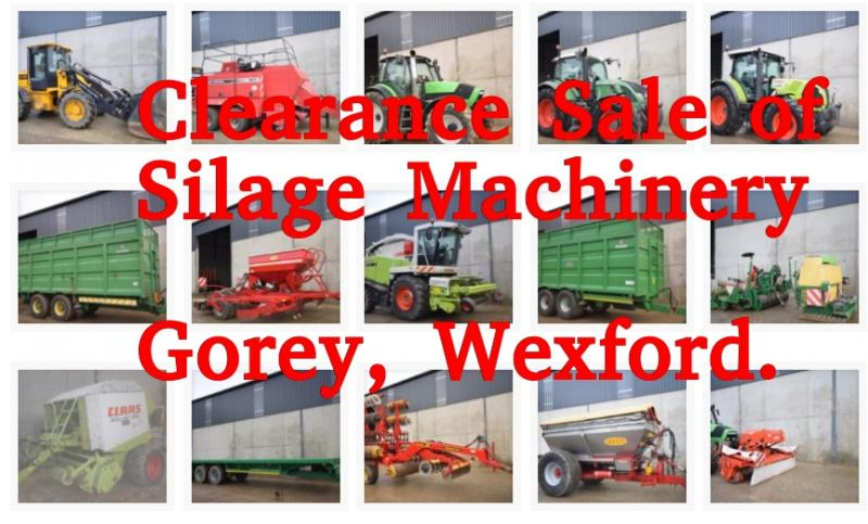 Friday 16th Silage Machinery Clearance Sale