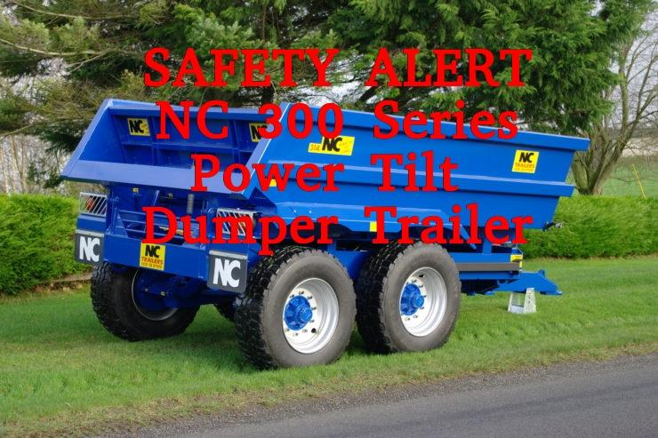 SAFETY ALERT NC 300 SERIES POWER TILT DUMP TRAILER
