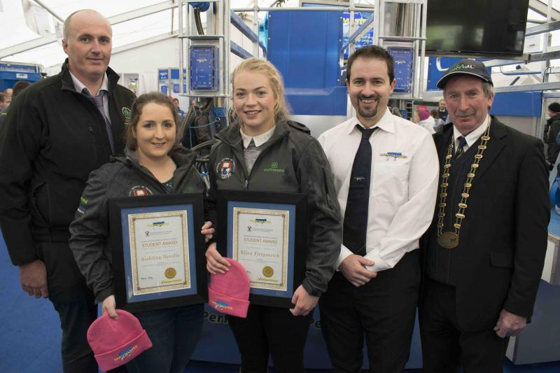 Winners of a Dairymaster bursary - Ploughing 18